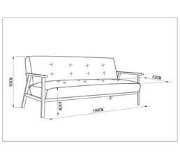 Canapé convertible JAZZ Gris et effet bois