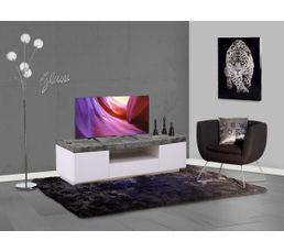 Meuble TV design ROK Blanc et béton