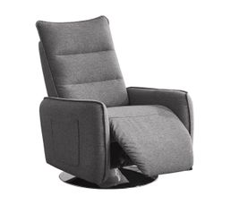 LAGOON Fauteuil relax pivotant Tissu Gris