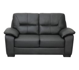 Canapé 2 places RANCH Cuir/PU noir
