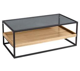 NEO Table basse industrielle Chêne et noir