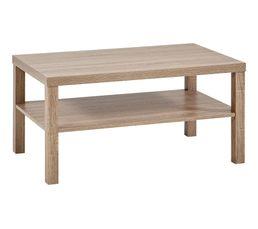 Table basse rectangulaire NEXT 3 avec 2 plateaux Dark sonoma