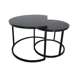 tables basses gigognes maoni noir imitation marbre tables basses but. Black Bedroom Furniture Sets. Home Design Ideas