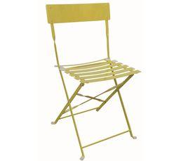 chaise pliante tropical jaune chaises but. Black Bedroom Furniture Sets. Home Design Ideas