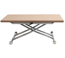39448a2ef72fd9 Table relevable 2 en 1 LILIAN Chêne et chrome - Tables Basses BUT