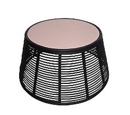 MAEVA Table basse Noir/rose