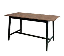 Table haute rectangle FLODEN Noyer/noir