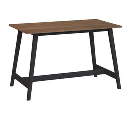 FLODEN Table haute rectangle Noyer/noir