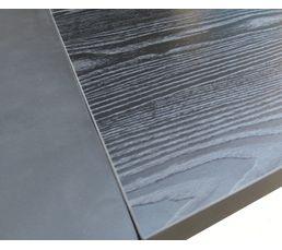 Table rectangle + 1 allonge CAMDEN Noir