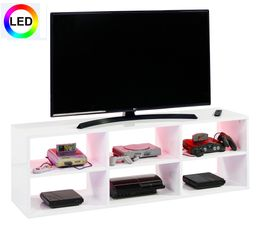 Meuble TV LED GAMER Blanc