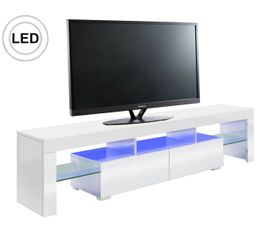 Meuble TV LED gamer PREDATOR Blanc