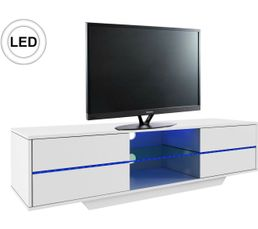 Meuble TV LED SCAR Blanc