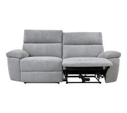 2ff81b993d4a73 Canapé 3 places 2 relax électrique ORION tissu gris clair - Canapés BUT