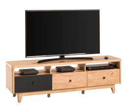 Meuble TV BLACKWOOD Chêne et Noir