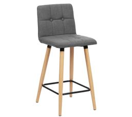 tabouret de bar hauteur 63 cm mevik gris clair but dealable. Black Bedroom Furniture Sets. Home Design Ideas