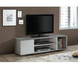 meuble tv laurent bton et blanc