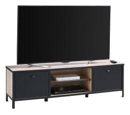 Meuble TV HARLEM Imitation chêne et Noir