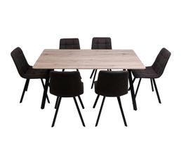 savina table chaises imitation chne sonoma