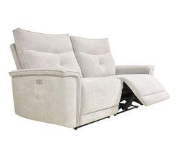 Canapé relax 3 places 2 moteurs ADAM tissu gris beige