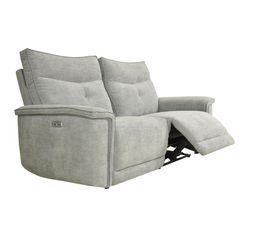 Canapé relax 3 places 2 moteurs ADAM tissu métal