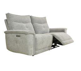 Canapé relax 3 places 3 moteurs ADAM tissu métal