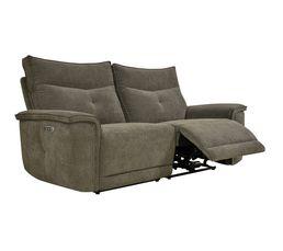 Canapé relax 3 places 3 moteurs ADAM tissu marron