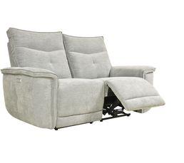 Canapé relax 2 places 2 moteurs ADAM tissu métal