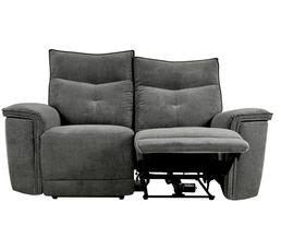 Canapé relax 2 places 2 moteurs ADAM tissu gris foncé