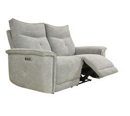 Canapé relax 2 places 3 moteurs ADAM tissu métal