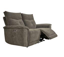 Canapé relax 2 places 3 moteurs ADAM tissu marron