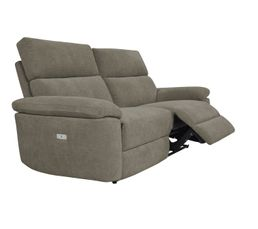 Canapé 3 places 2 relax électriques ORION tissu marron