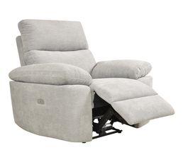 Fauteuil relax électrique ORION tissu gris beige