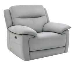Fauteuil relax électrique CURTISS II tissu gris clair