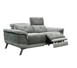 Canapé 2 places 2 relax électriques STYLSON tissu gris foncé
