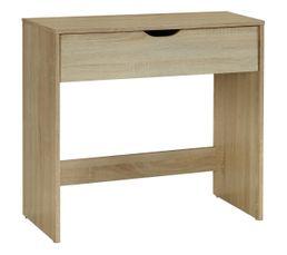 Bureau 1 tiroir EMY Imitation Chêne