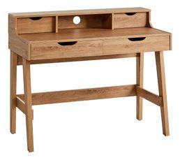 Bureau 4 tiroirs TOKYO Imitation chêne moyen