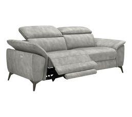 Canapé 2 places relax NEWPORT tissu gris clair