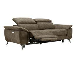 Canapé 3 places relax NEWPORT tissu marron