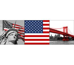 NYC FLAG Set de 3 Box Art 20X20 41-041