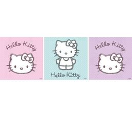 HELLO KITTY DOTTIES Set de 3 Box Art 20X20 Rose/violet