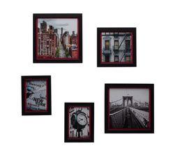 S/5 images encadrées 50X45 NYC PINK MOTION Multicolore