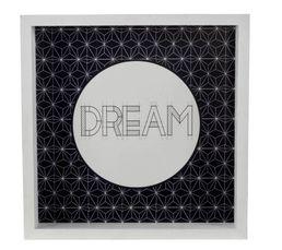 DREAM Caisse américaine 33X33 Noir/Blanc