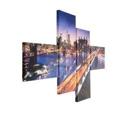 MANHATTAN BRIDGE Set de 4 toiles 100X150 Imprimé