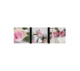 Set de 3 Box Art 20X20 FLOWERS ROMANCE Gris