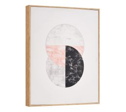 Toile imprimée 40x50 cm CIRCLE Multicolor