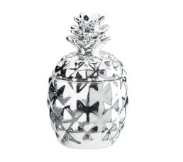 Bougie H 10 Cm ANANAS Argent