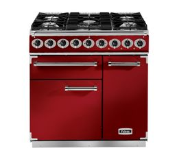 Piano de cuisson FALCON F900DXDFRD/NM mixte rouge