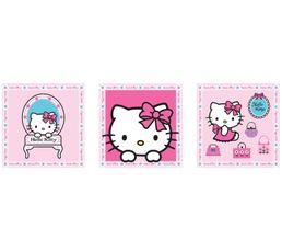 Set de 3 Box Art 20X20 HELLO KITTY 71060