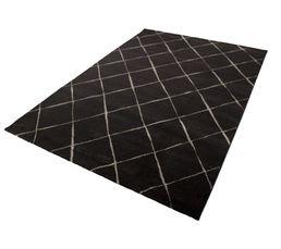 Tapis poil court 160x230 cm BALEA Noir