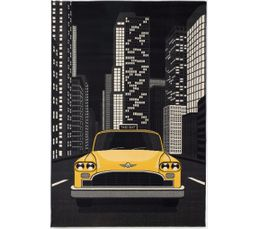 Tapis poil court 80x150 cm TAXIS Motif taxis